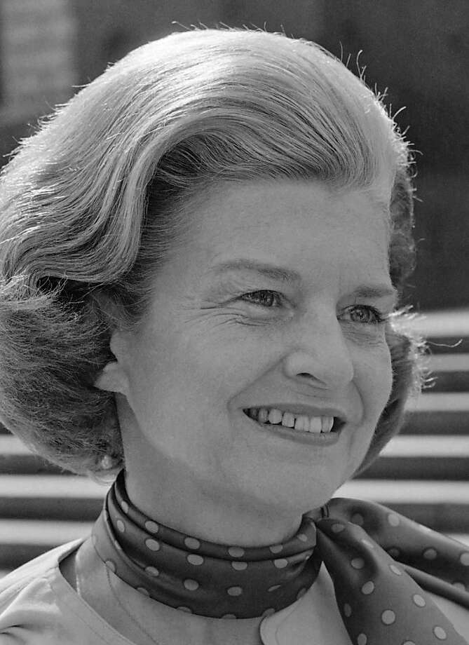 "FILE - This Aug. 11, 1975 photo released by CBS-TV shows first lady Betty Ford as she appeared on ""60 Minutes."" Ford, the former first lady whose triumph over drug and alcohol addiction became a beacon of hope for addicts and the inspiration for her BettyFord Center, has died, a family friend said Friday, July 8, 2011. She was 93. Photo: Cbs-tv, AP"