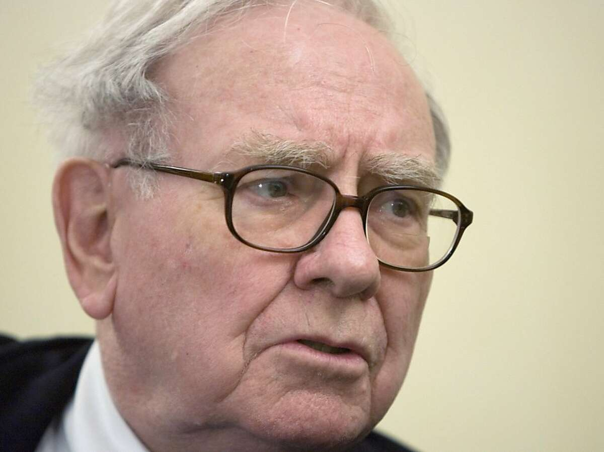 ** FILE ** In this May 21, 2008 file photo, U.S. Billionaire investor Warren Buffett speaks during a news conference in Madrid. The financial firestorm engulfing the world makes the job of treasury secretary arguably the most important Cabinet post the next president will fill. (AP Photo/Paul White, file)