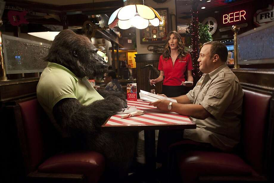 "Kevin James, right, and Jackie Sandler star in Columbia Pictures' comedy ""Zookeeper."" Photo: Columbia Pictures"