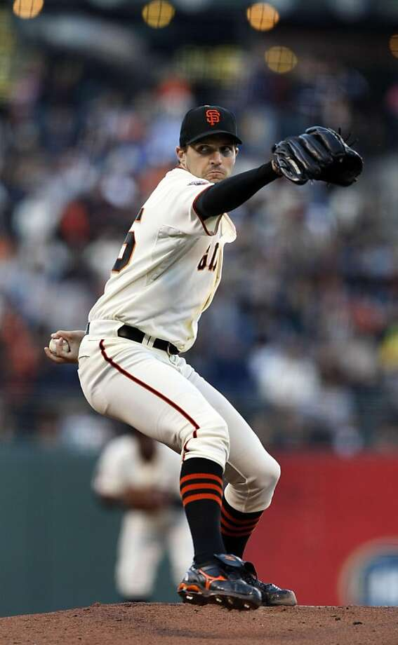 San Francisco Giants starting pitcher Barry Zito (75) delivers a pitch to the San Diego Padres during the first inning of a baseball game, Thursday, July 7, 2011, in San Francisco, Calif. Photo: Lance Iversen, The Chronicle