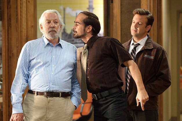 """Horrible Bosses"": Donald Sutherland, Colin Farrell and Jason Sudeikis. Photo: John P. Johnson, Warner Bros"