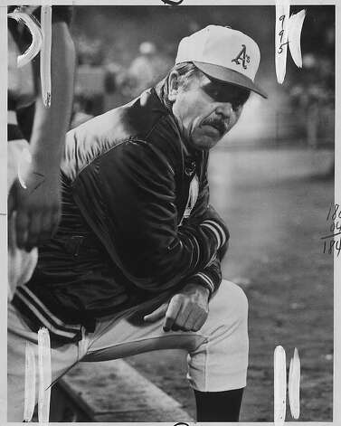 Oakland A's manager Dick Williams at the World Series in October, 1972. Photo: Dave Randolph, The Chronicle