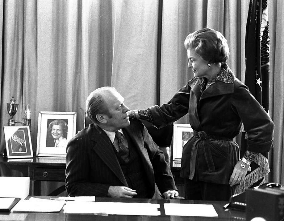 FILE - In this Jan. 19, 1977 file picture, President Gerald Ford and first lady Betty Ford pause for a moment as they continue packing at the White House in Washington. On Friday, July 8, 2011, a family friend said that Betty Ford had died at the age of 93. Photo: Eddie Adams, Associated Press 1977