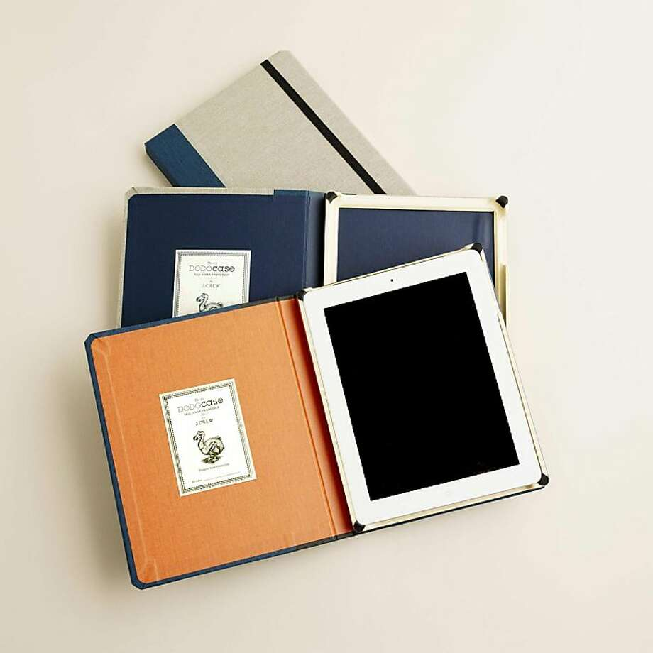 These cases are a true collaboration with each case handmade using bookbinding techniques by DODOcase in San Francisco, but with the signature vintage-hip style aesthetic of J.Crew.  Available for $79.95 and exclusively for the iPad2, these cases mark thefirst collaboration for DODOcase and J.Crew. Photo: Courtesy Abby Topolsky, J. Crew