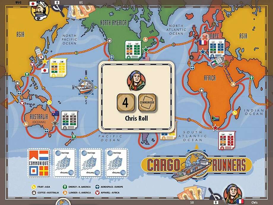 A screenshot of the iPad game, Cargo Runners Photo: Trouble Brothers
