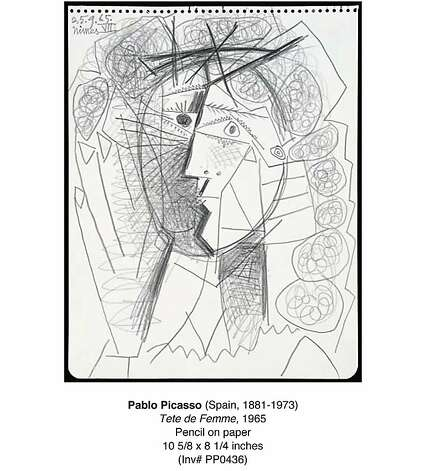 """Tete de Femme,"" a 1965 drawing by Pablo Picasso that was stolen July 5, 2011, from the Weinstein Gallery in San Francisco. Photo: Weinstein Gallery"