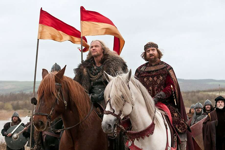 "In this film publicity image released by ARC Entertainment, Vladimir Kulich, left, and Paul Giamatti are shown in a scene from ""Ironclad."" Photo: AP"