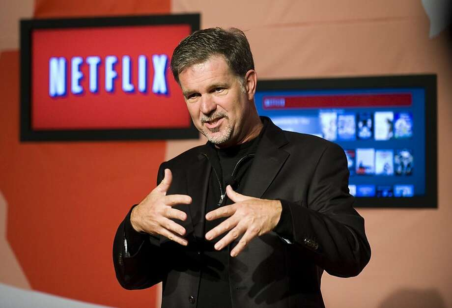 Reed Hastings, CEO of Netflix, announces Netflix's expansion to Toronto, Canada, Wednesday, September 22, 2010. The video-streaming company (Nasdaq:NFLX) is offering a one-month free trial as it launches in Canada Wednesday followed by a monthly fee of $7.99. Photo: Adrien Veczan, AP