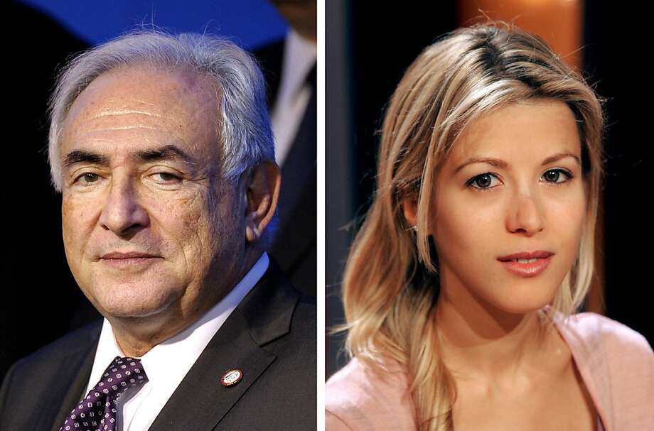 """A combination of two images shows (at L) a picture taken in 2011 of former International Monetary Fund (IMF) Managing Director Dominique Strauss-Kahn and (at R) a picture taken in 2004 of French journalist and writer Tristane Banon, who will bring legal action this week for attempted rape against former IMF head Dominique Strauss-Kahn, her lawyer said on July 4, 2011 in an interview published online. Tristane Banon, a journalist and writer, """"is lodging a complaint for attempted rape against Mr Dominique Strauss-Kahn"""", the lawyer, David Koubbi, was quoted as saying by news magazine L'Express on its website. Photo: Fred Dufour, AFP/Getty Images"""