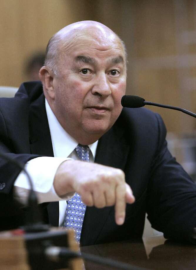 Charles Reed, chancellor of the California State University System, discusses budget problems in 2009. AP Photo by Rich Pedroncelli
