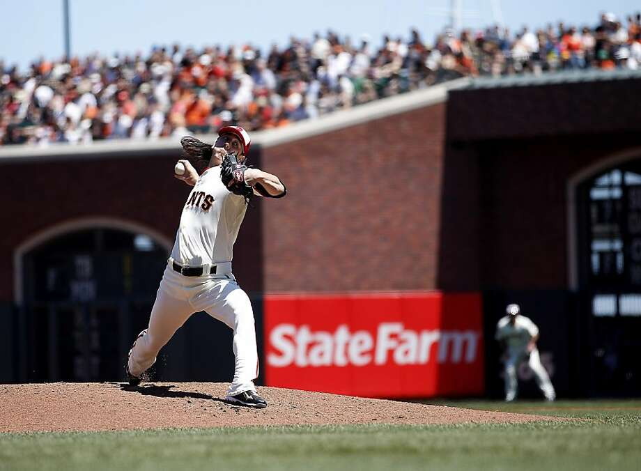 San Francisco Giants starting pitcher Tim Lincecum (55) delivers a pitch to the San Diego Padres during the first inning of a baseball game, Monday, July 4, 2011, in San Francisco. Photo: Tony Avelar, AP