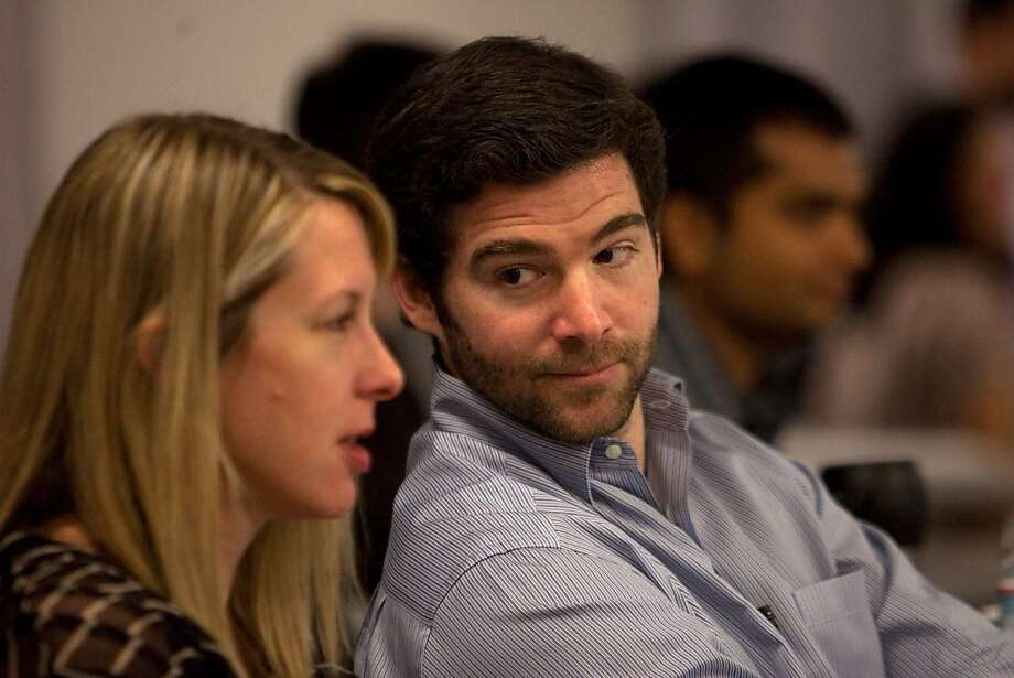 "Jeffrey "" Jeff"" Weiner, chief executive officer of LinkedIn Corp., talks to Shannon Stubo, vice president of corporate communications with LinkedIn, during a news conference in Mountain View, California, U.S., on Thursday, March 10, 2011. LinkedIn has more than 1,000 employees and 90 million users in more than 200 countries. Members use the site to search for jobs, recruit employees and find industry experts. Photographer: David Paul Morris/Bloomberg *** Local Caption *** Jeffrey Weiner; Shannon Stubo Photo: David Paul Morris, Bloomberg"
