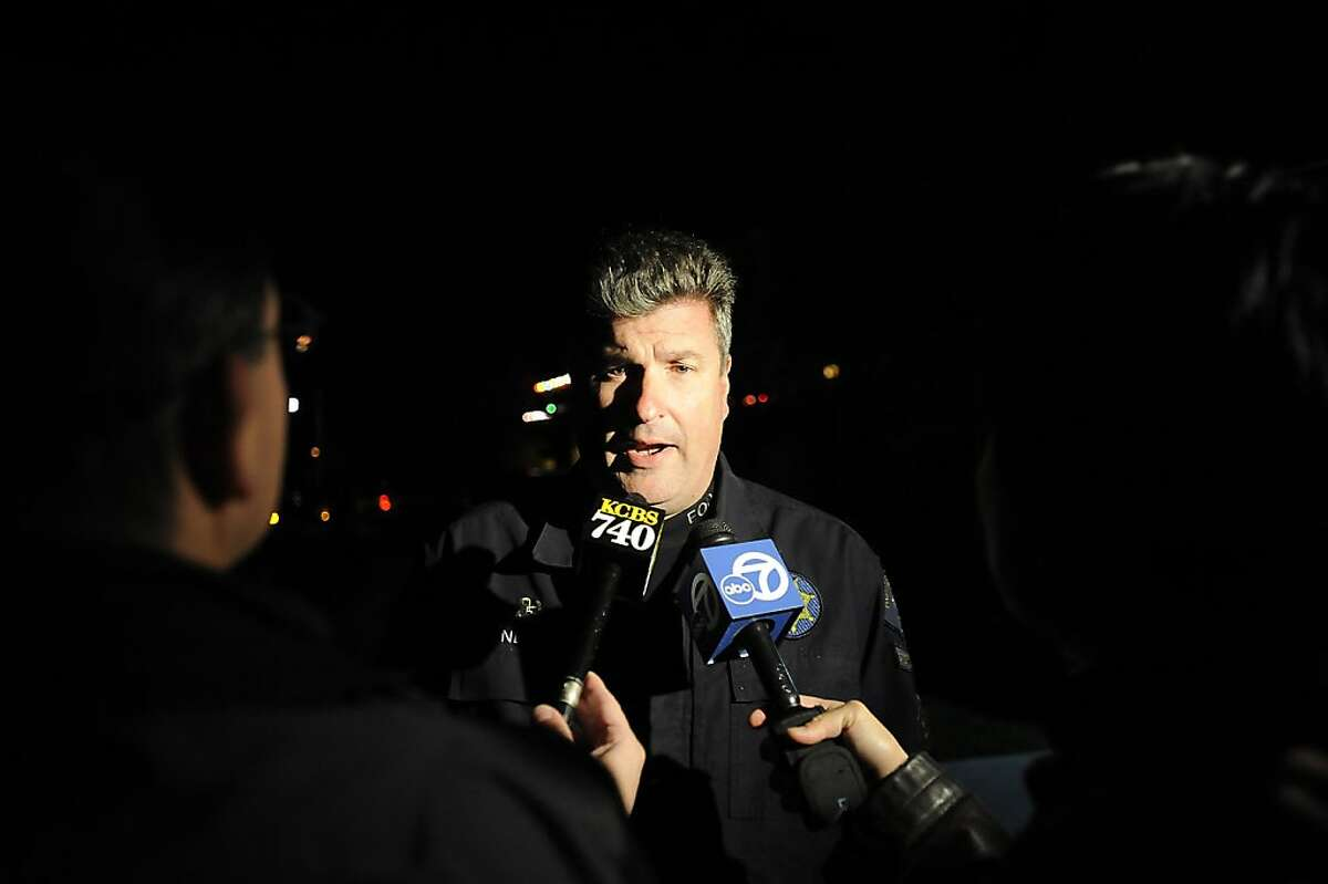 Sgt. JD Nelson of the Dublin Police speaks with the media after
