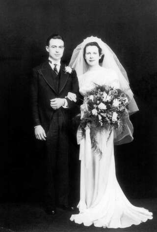 The 1936 wedding photo of Bill and Agnes Malloy, parents of Gov. Dan Malloy Photo: Contributed Photo