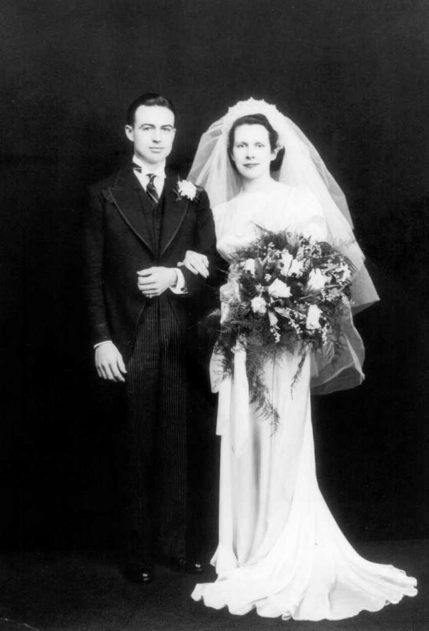 The 1936 wedding photo of Bill and Agnes Malloy, parents of Gov. Dan Malloy