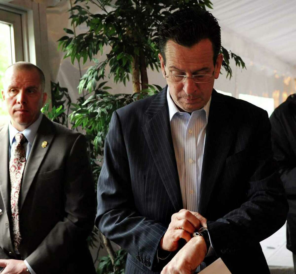 Gov. Dan Malloy at the Travelers Golf Tournament media day in Cromwell, Conn. on Tuesday May 17, 2011.