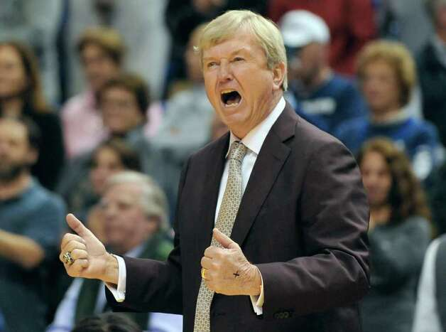 Texas A&M head coach Gary Blair reacts in the first half of an NCAA college basketball game in Hartford, Conn., Tuesday, Dec. 6, 2011. Photo: Jessica Hill, Associated Press