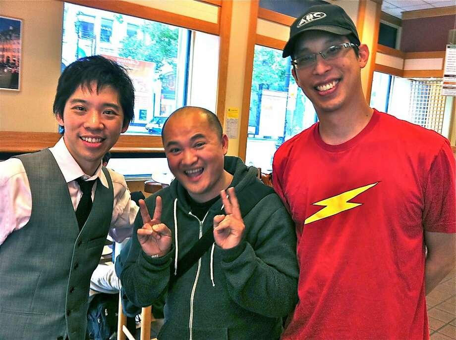 Cliff Chiang, Thien Pham and Gene Yang. Photo: Jeff Yang