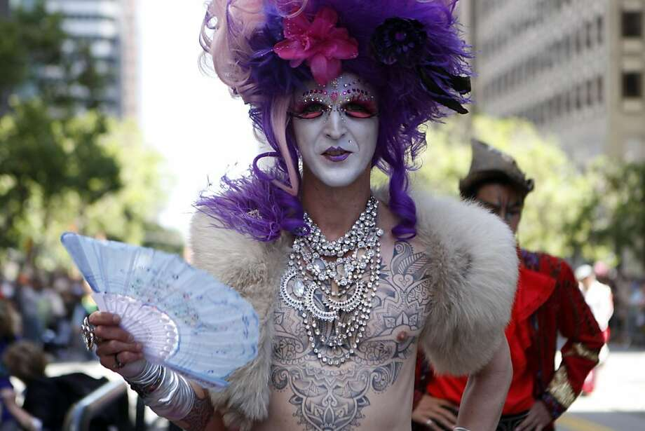 Elaborate costumes and vibrant colors added excitement and life to the San Francisco Pride Parade on Sunday, June 26, 2011. Photo: Audrey Whitmeyer-Weathers, The Chronicle