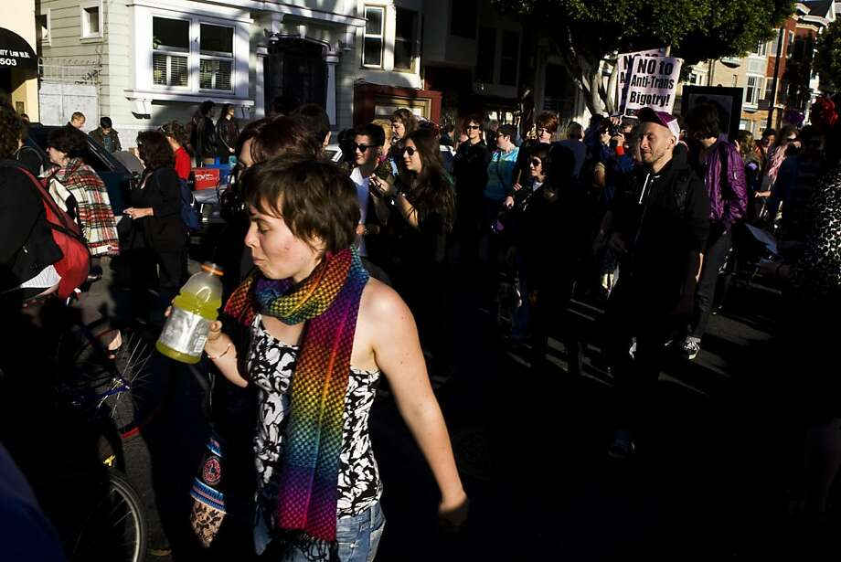 The annual Transgender March started at Dolores Park on Friday, June 24 and ended at the U.N. Plaza. Hundreds of people showed up to support and participate in the march. Photo: Maddie McGarvey, The Chronicle