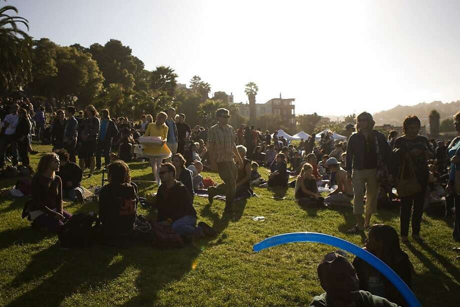 Supporters of the Transgender March gather in Delores Park to listen to music and artists before the march. The annual Transgender March started at Dolores Park on Friday, June 24 and ended at the U.N. Plaza. Hundreds of people showed up to support and participate in the march. Photo: Maddie McGarvey, The Chronicle