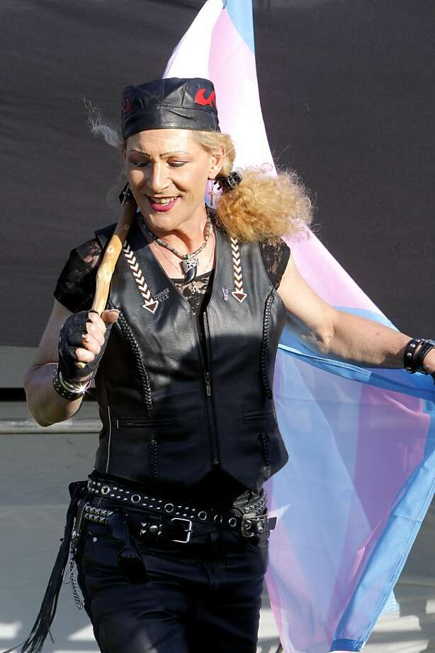 Robin S. Mitchell, 60, dances during the Transgender March in San Francisco, Calif., on Friday, June 24, 2011. Photo: Michelle Terris, The Chronicle