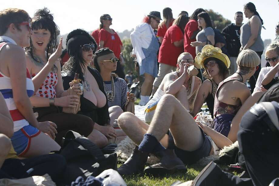 The 2011 San Francisco Transgender Parade that started in Dolores Park brought hundreds of supporters and marchers to the city. Photographed in San Francisco Calif.,  on June 24, 2011. Photo: Audrey Whitmeyer-Weathers, The Chronicle