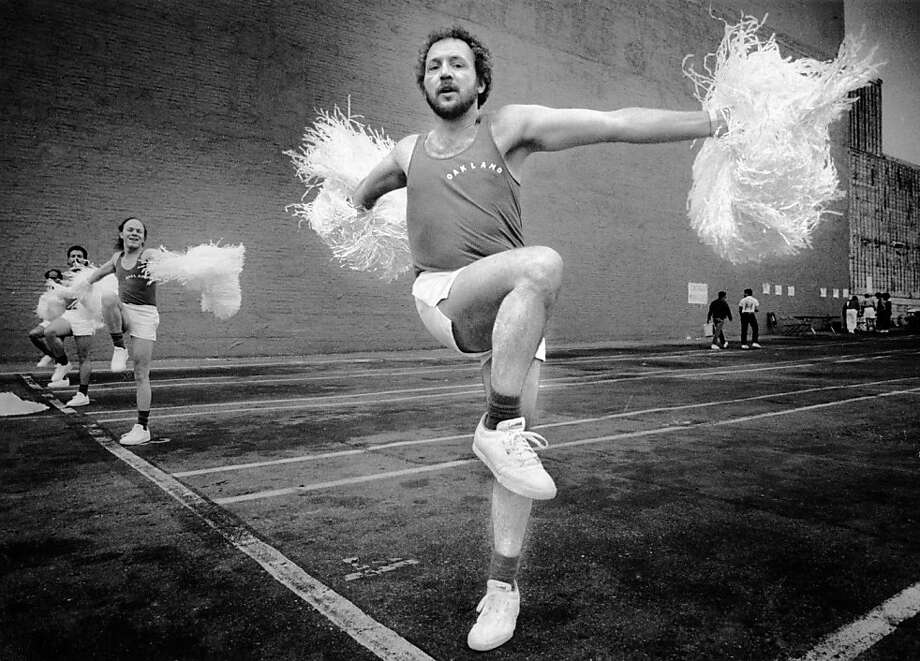 Ted Tarcher of the Oakland Pom Poms works out before the 1987 Gay Pride Parade. Photo taken June 28, 1987.Ted Tarcher of the Oakland Pom Poms works out before the 1987 Gay Pride Parade. Photo taken June 28, 1987. Photo: Tom Levy, The Chronicle