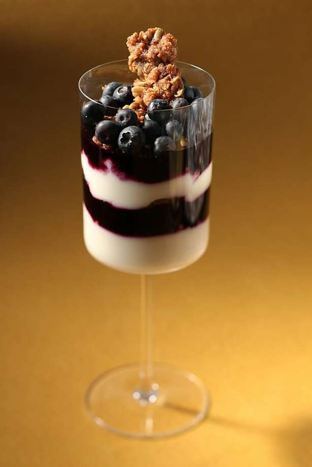 Blueberry Yogurt Parfait with Pepita Crunch in San Francisco, Calif., on August 19, 2009. Food styled by Tara Duggan. Photo: Craig Lee, The Chronicle