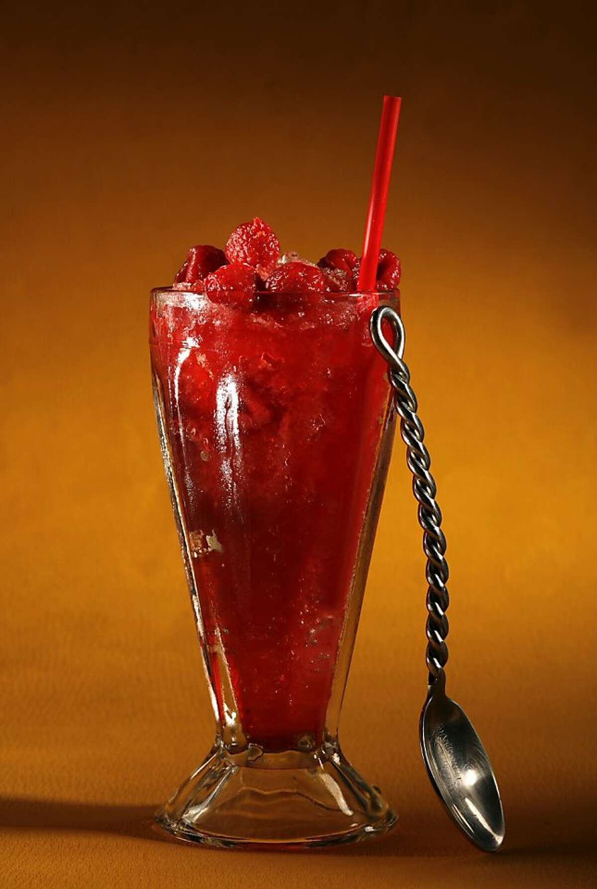 Mexican raspberry snow cone. Food styled by Rachael Daylong. Photo by Craig Lee