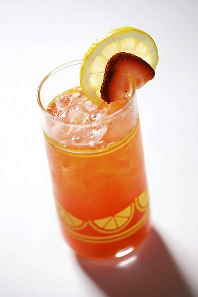 Summer drinks and snacks: Nopalito's Strawberry Lemonade. By JOHN LEE/SPECIAL TO THE CHRONICLE