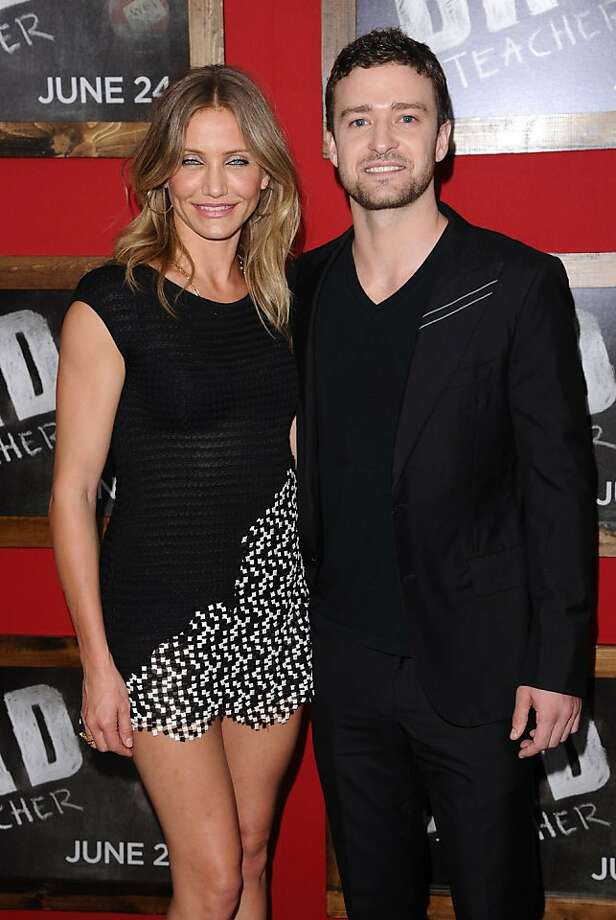 "Actors Justin Timberlake and Cameron Diaz attend the premiere of ""Bad Teacher"" at The Ziegfeld Theater, in New York, on Monday, June 20, 2011. Photo: Peter Kramer, AP"