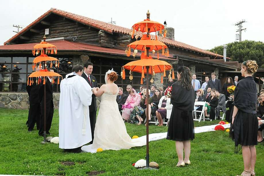 Long time San Francisco wedding planner, Kathryn Kalabokes says the Presidio Log Cabin is an increasingly popular and quirky outdoor wedding venue. Photo: Brian Pobuda