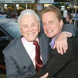 Actors Michael Douglas & Kirk Douglas