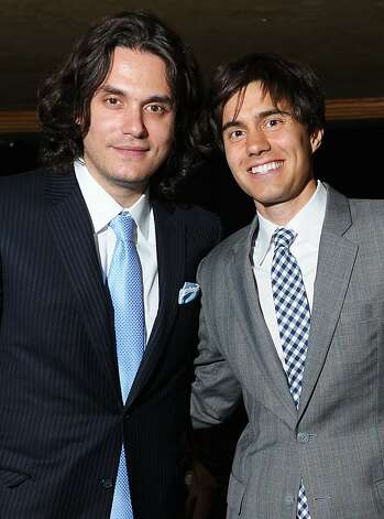 NEW YORK, NY - JUNE 13:  John Mayer (L) and co-founder of CollegeHumor Ricky Van Veen attend the 15th Annual Webby Awards at Hammerstein Ballroom on June 13, 2011 in New York City.  (Photo by Michael Loccisano/Getty Images for The Webby Awards) Photo: Michael Loccisano, Getty Images For The Webby Award
