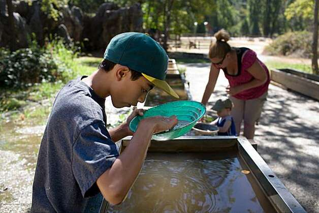 Panning for gold in Columbia, Calif. Photo: Anne Williams, Special To The Chronicle