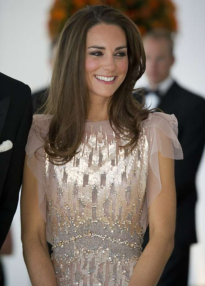 The Duchess of Cambridge attends the 10th Annual Absolute Return for Kids (ARK) Gala Dinner on behalf of the Foundation of Prince William and Prince Harry, at Perks Field, Kensington Palace, in London, on June 9, 2011. Photo: Arthur Edwards, AFP/Getty Images