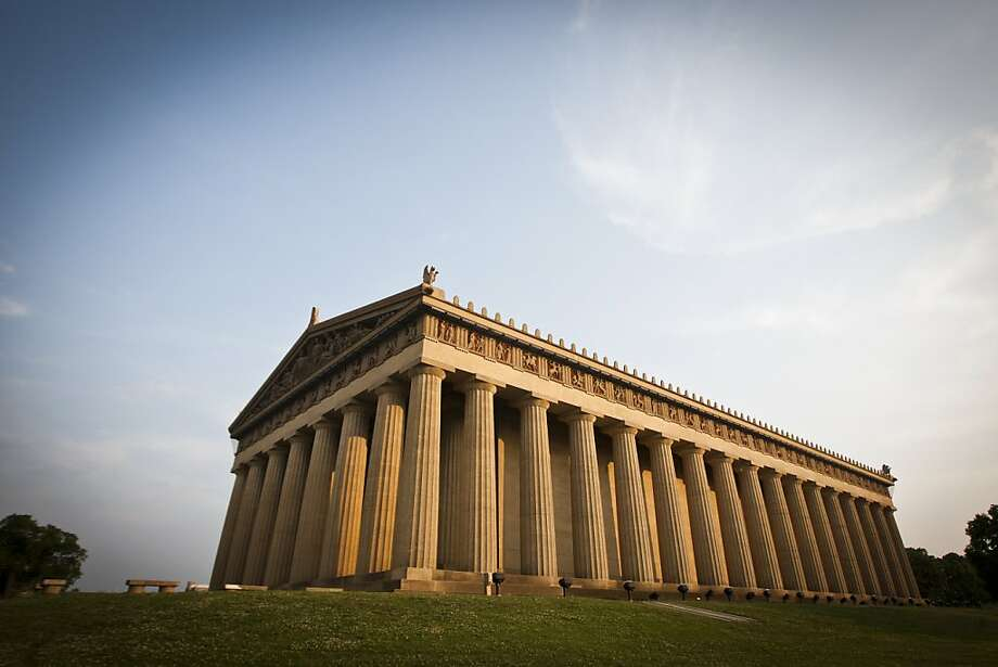 The Parthenon in Centennial Park in Nashville is an exact replica of the original structure in Athens. Photo: Ali Thanawalla, SFGate