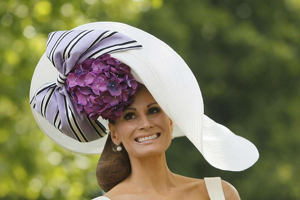 Iasbell Kristiensen Wears An Ornate Hat On The First Day Of Royal Ascot Horse Race