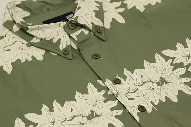 Hilo designer Sig Zane's Kukuihou print, seen here in closeup, was one of his first five designs produced in 1982, originally on a pareu (sarong.) Photo: Courtesy Sig Zane