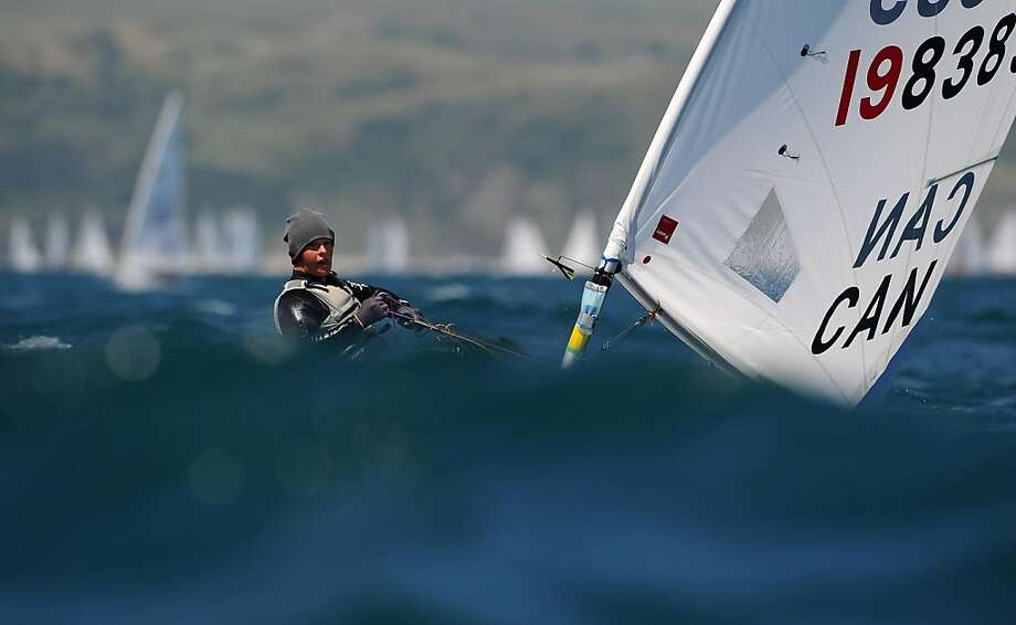 Isabella Bertold of Canada in action during a Radial class race on day two of the Skandia Sail For Gold Regatta at the Wemouth and Portland National Sailing Academy on June 7, 2011 in Weymouth, England. Photo: Clive Mason, Getty Images