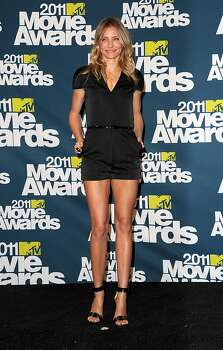 UNIVERSAL CITY, CA - JUNE 05:  Actress Cameron Diaz poses in the press room during the 2011 MTV Movie Awards at Universal Studios' Gibson Amphitheatre on June 5, 2011 in Universal City, California. Photo: Jason Merritt, Getty Images