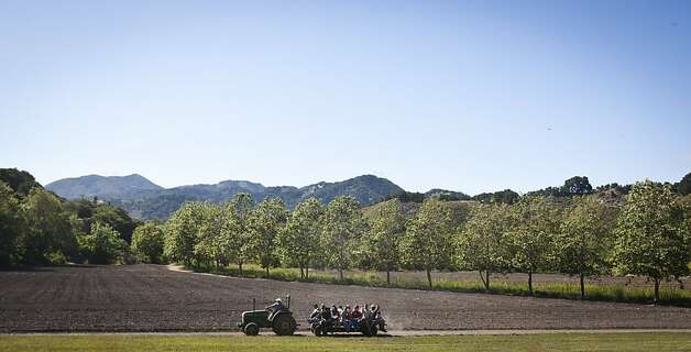 People take a tour of the fields at the Avila Valley Barn on Saturday, May 28th, 2011. Photo: Ali Thanawalla, SFGate