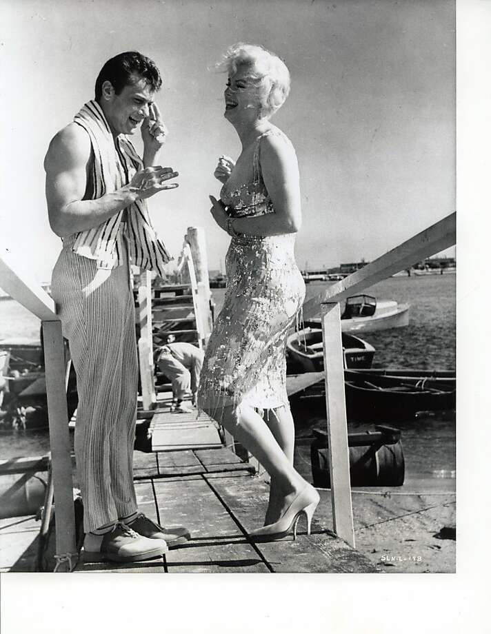 "Tony Curtis and Marilyn Monroe on the set of ""Some Like it Hot."" Photo: Courtesy John Wiley & Sons"