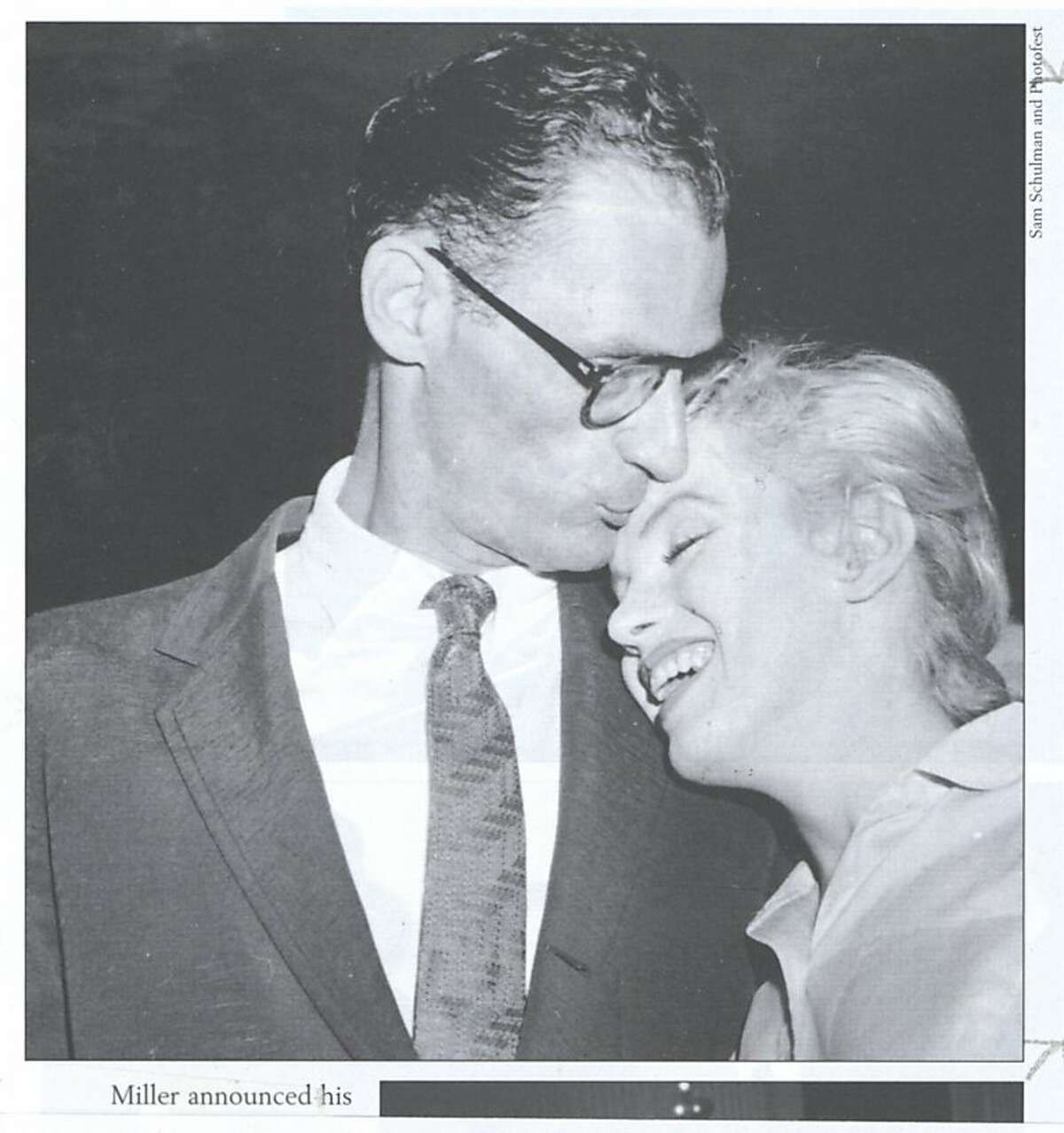 Arthur Miller and Marilyn Monroe in 1956.