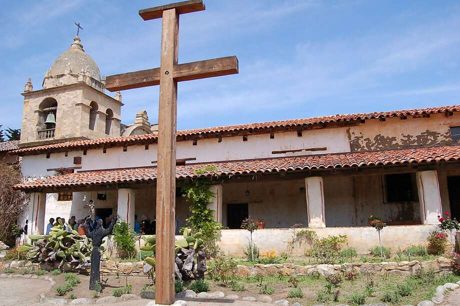 Mission San Carlos Borromeo de Carmelo is an active church parish open for tours of its historic buildings (shown here), museums and gardens. Photo: Jeanne Cooper, Special To SFGate