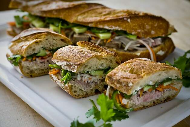 Grilled tuna Bahn Mi sandwich. Photo: Peter DaSilva, Special To The Chronicle