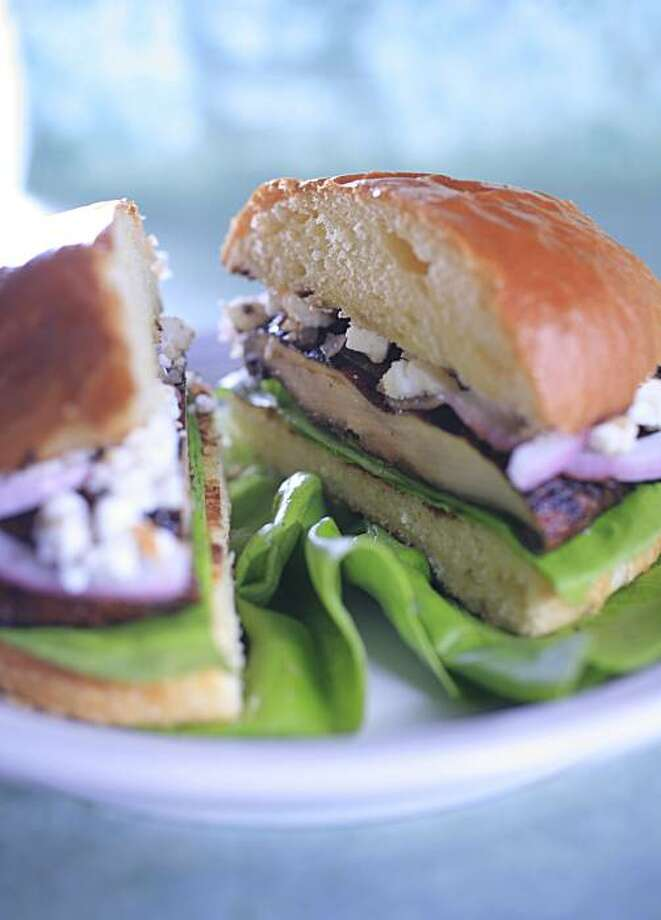 PAIRINGS09_02_JOHNLEE.JPG MAY 1, 2008: Portabello mushroom burger. BY JOHN LEE / SPECIAL TO THE CHRONICLE Photo: John Lee, SFC