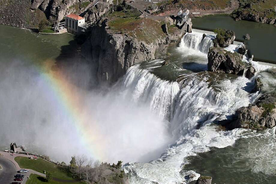 More than 18,000 cubic feet per second of water flow over Shoshone Falls on Saturday May 21, 2011 in Twin Falls, Idaho.  Wet weather and delayed snowmelt have combined to make a spectacular sight for visitors to Shoshone Falls in southern Idaho. Photo: Ashley Smith, Times-News