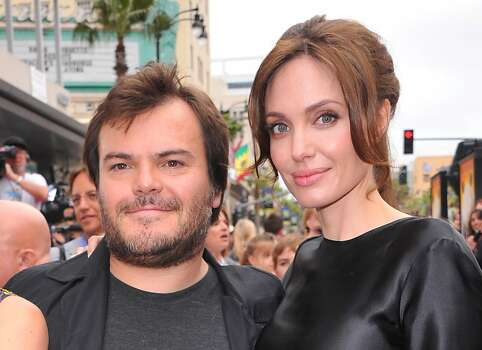 "HOLLYWOOD, CA - MAY 22:  Actors Jack Black (L) and Angelina Jolie arrive at DreamWorks Animation's ""Kung Fu Panda 2"" Los Angeles Premiere held at Grauman's Chinese Theatre on May 22, 2011 in Hollywood, California. Photo: Alberto E. Rodriguez, Getty Images"
